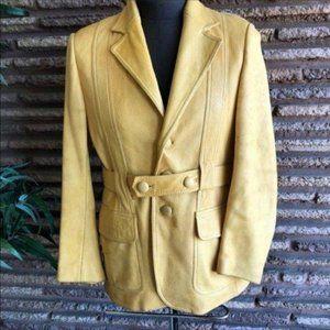 Vintage 70s Groovy Buckskin Belted Jacket